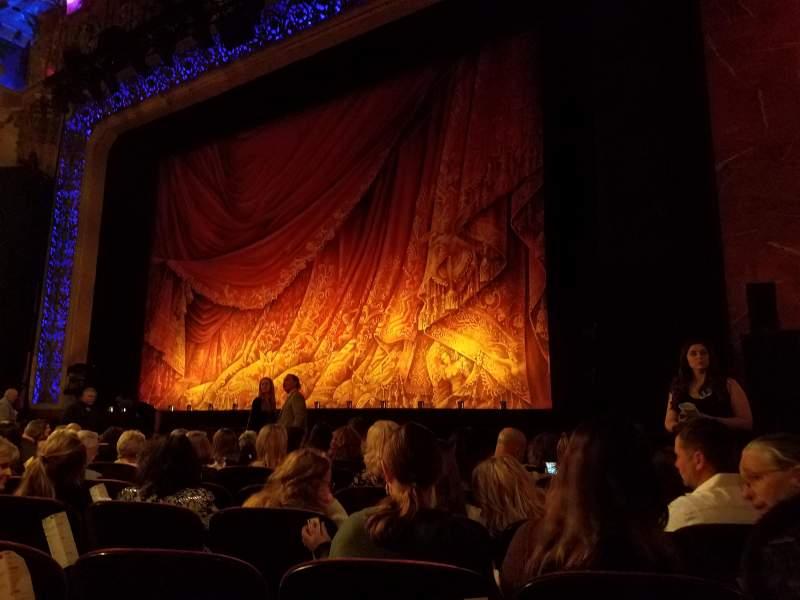 Vista sentada para Saenger Theatre (New Orleans) Secção Orchestra Fila J Lugar 22