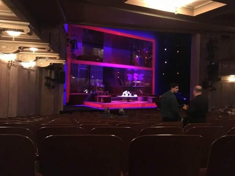 Vista sentada para Booth Theatre Secção Orchestra L Fila N Lugar 11