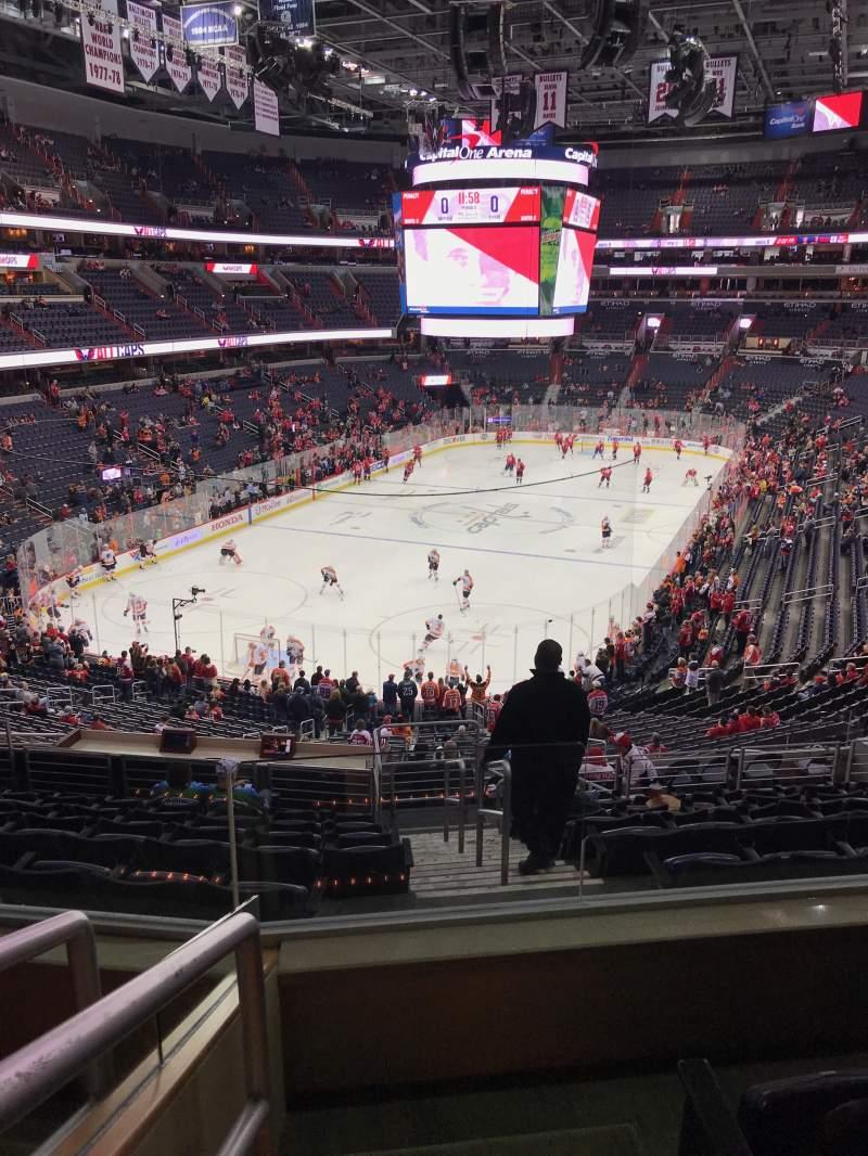 Vista sentada para Capital One Arena Secção 211