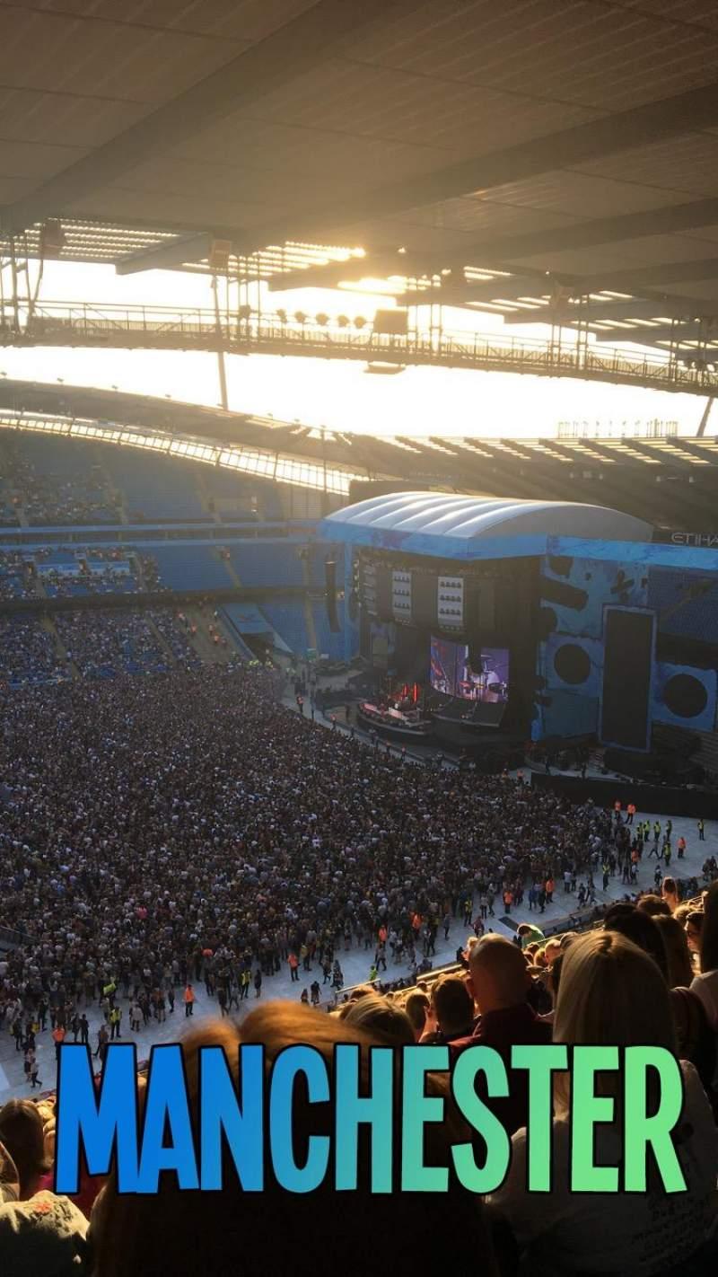 Vista sentada para Etihad Stadium (Manchester) Secção 306 Fila BB Lugar 178