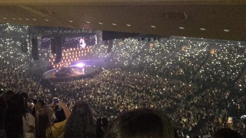 Vista sentada para Madison Square Garden Secção 227 Fila 16 Lugar 1