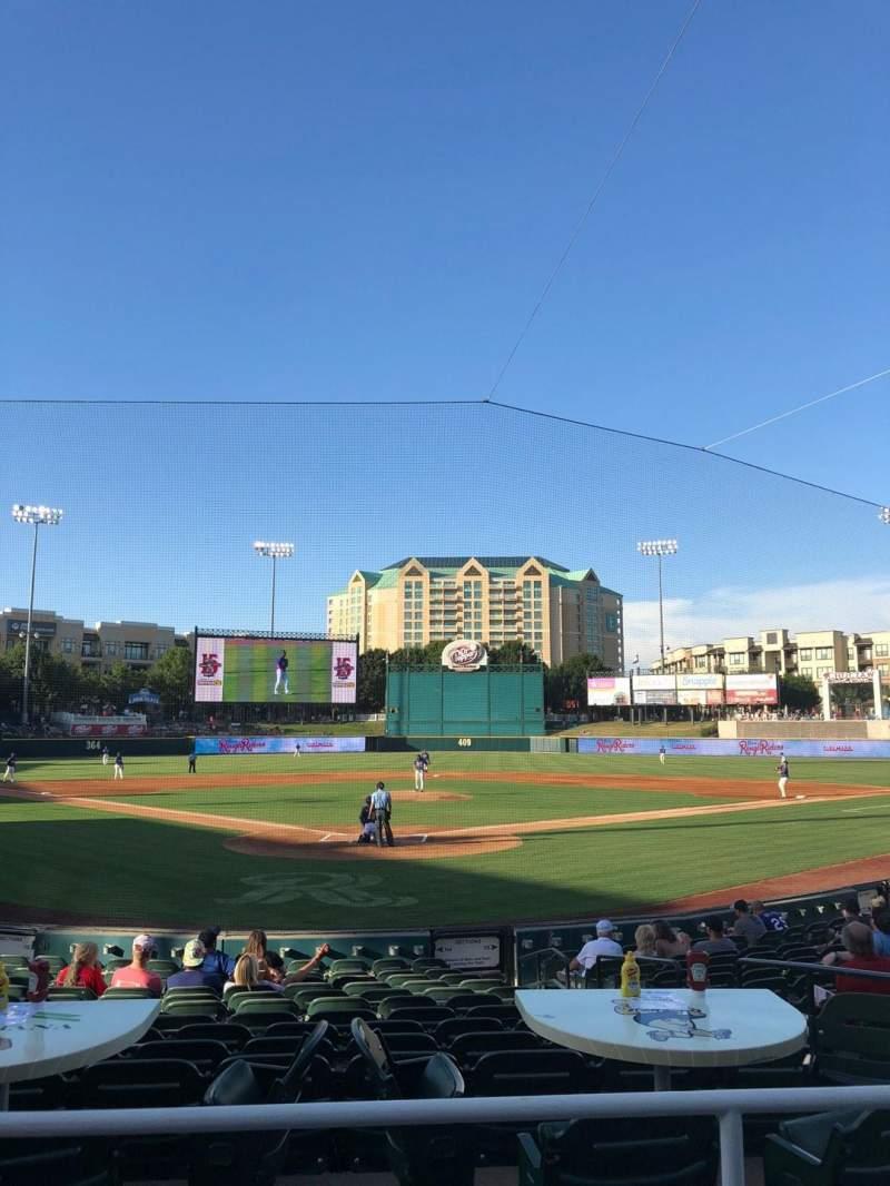 Vista sentada para Dr Pepper Ballpark Secção 114 Fila 15 Lugar 6