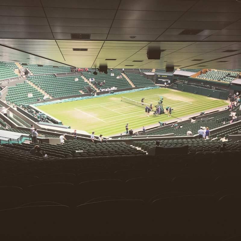 Vista sentada para Wimbledon, Centre Court Secção 506 Fila ZE Lugar 125