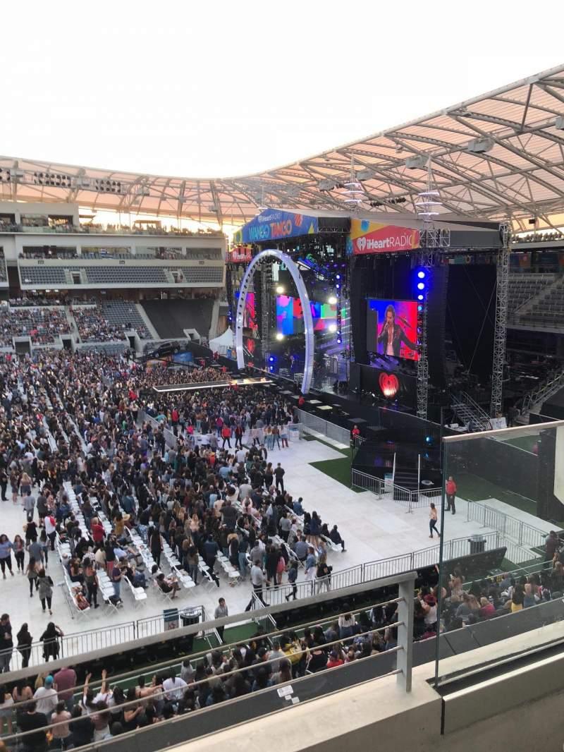Vista sentada para Banc of California Stadium Secção M1 Fila B Lugar 1