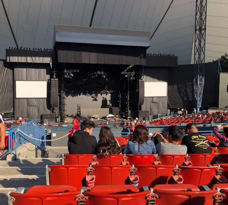 Vista sentada para Shoreline Amphitheatre Secção 202 Fila K Lugar 52