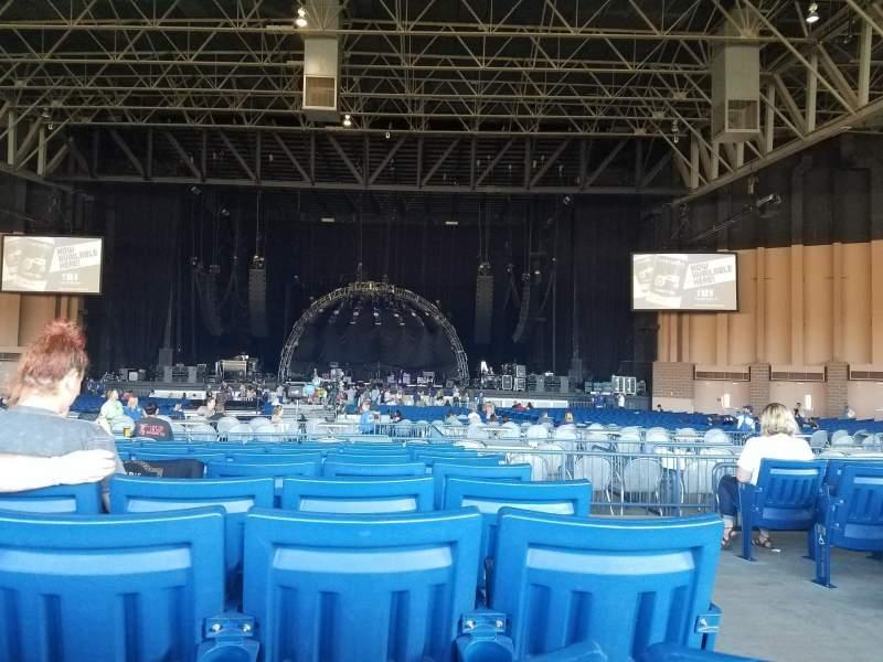 Vista sentada para Sunlight Supply Amphitheater Secção 204 Fila K Lugar 1