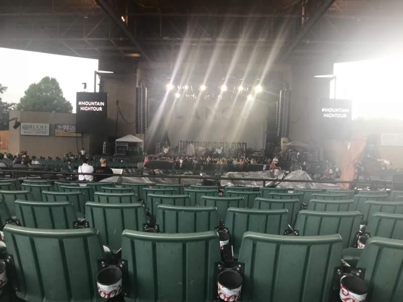 Vista sentada para Ruoff Music Center Secção F Fila M Lugar 21