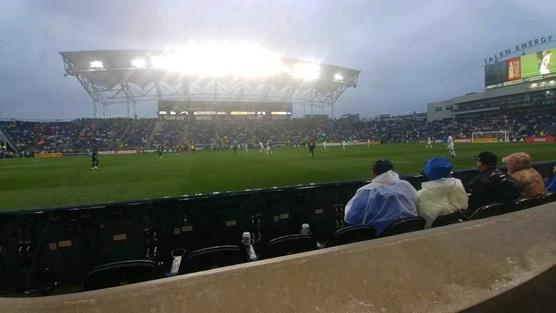 Vista sentada para Talen Energy Stadium Secção 128 Fila A Lugar 8