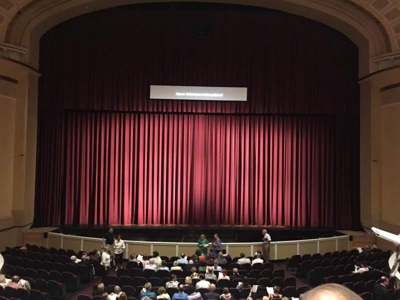Vista sentada para Merrill Auditorium Secção Grand tier section 3 Fila B Lugar 10