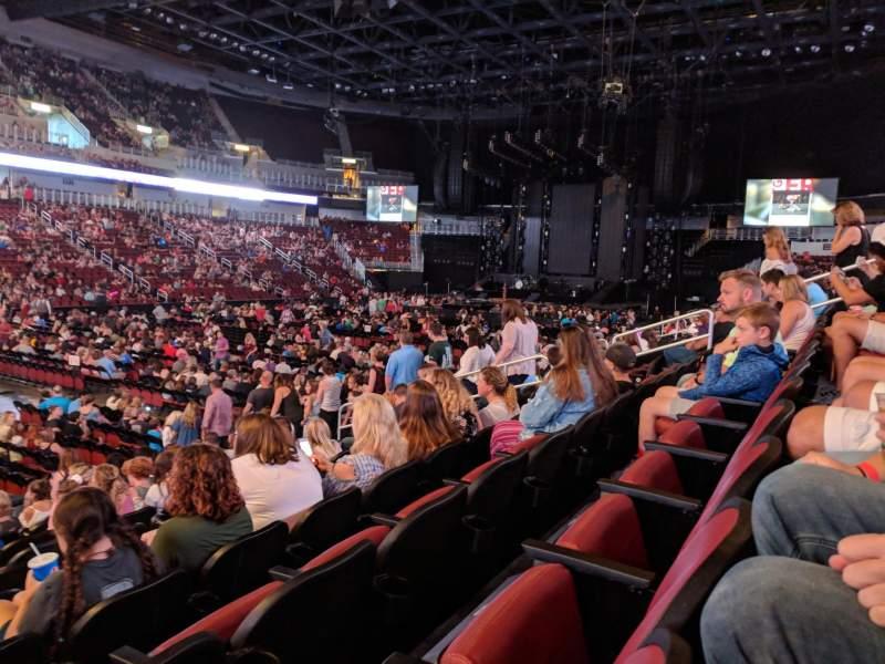 Vista sentada para Intrust Bank Arena Secção 105 Fila L Lugar 12