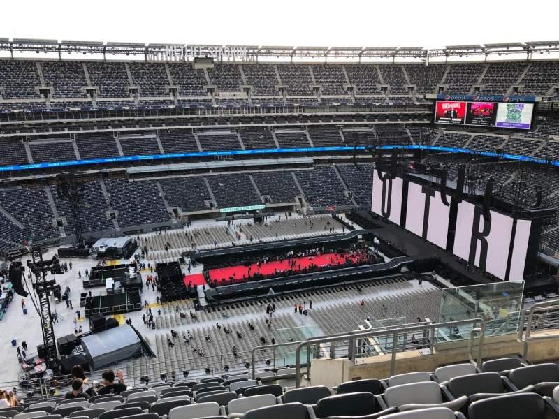 Vista sentada para MetLife Stadium Secção 316 Fila 16 Lugar 7