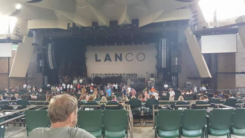Vista sentada para Saratoga Performing Arts Center Secção 10 Fila CC Lugar 4