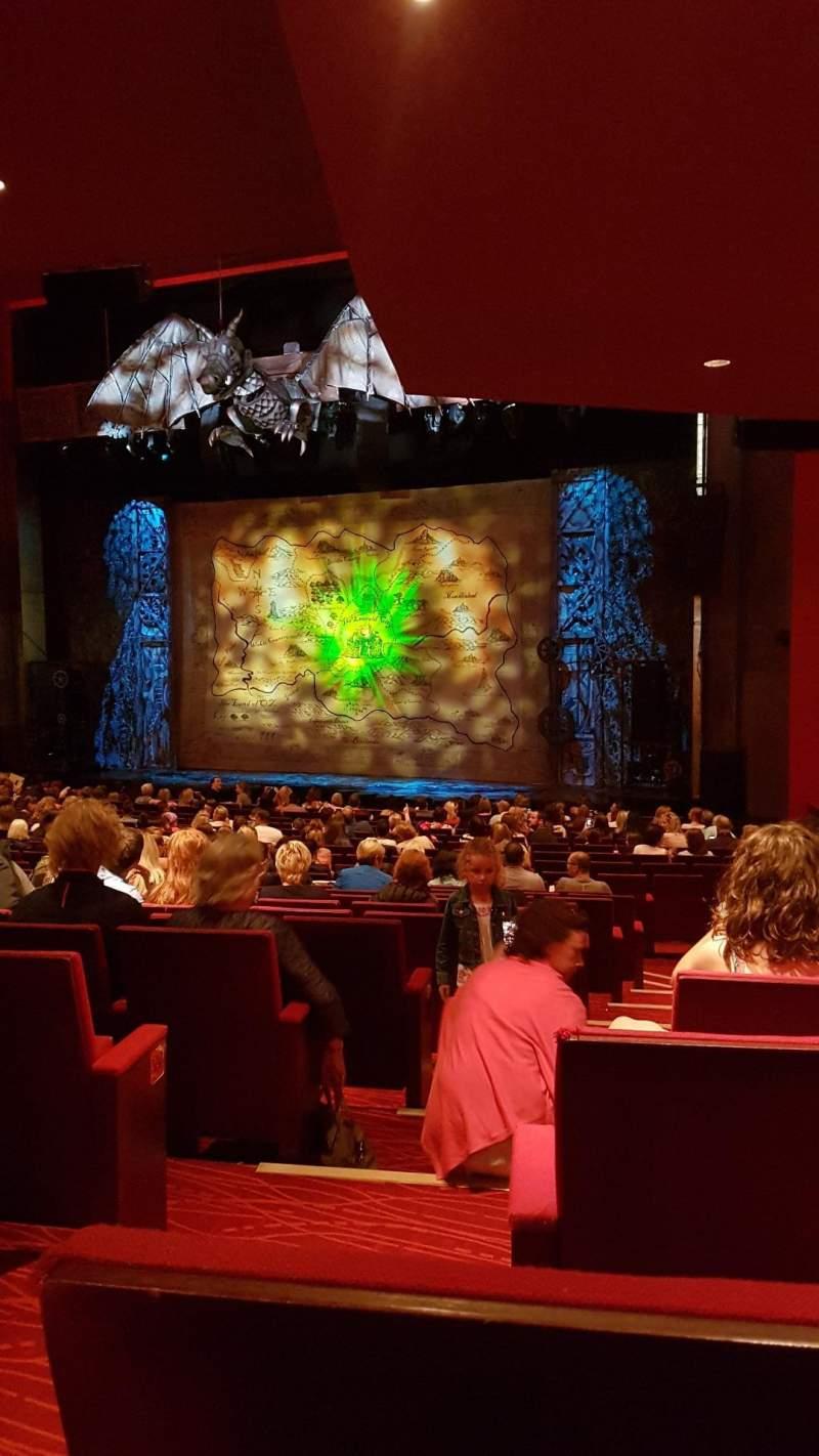 Vista sentada para Bord Gáis Energy Theatre Secção Stallls Fila U Lugar 44