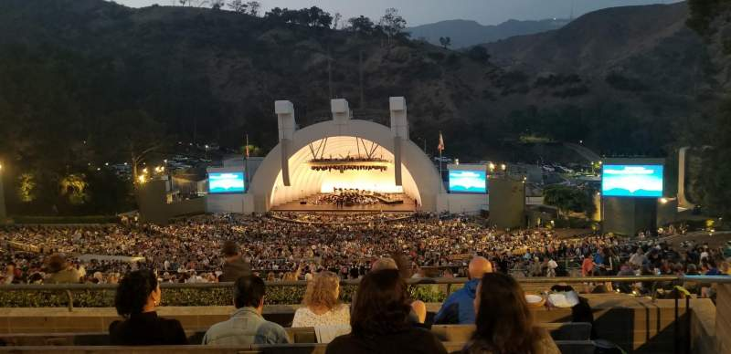 Vista sentada para Hollywood Bowl Secção R2 Fila 6 Lugar 36