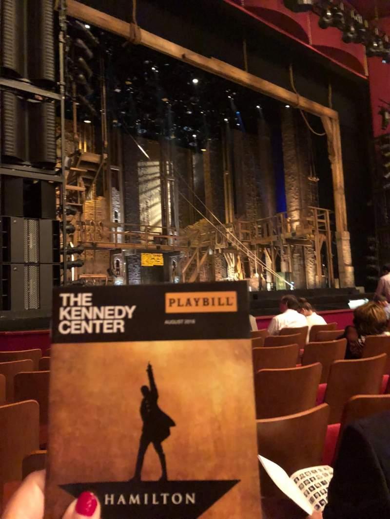 Vista sentada para The Kennedy Center Opera House Secção Orchestra Fila L Lugar 15