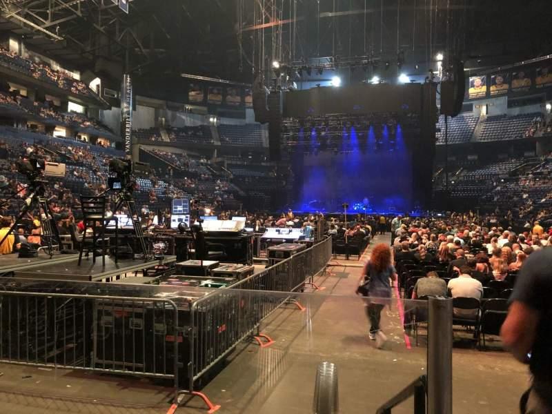 Vista sentada para Bridgestone Arena Secção 101 Fila CC Lugar 2