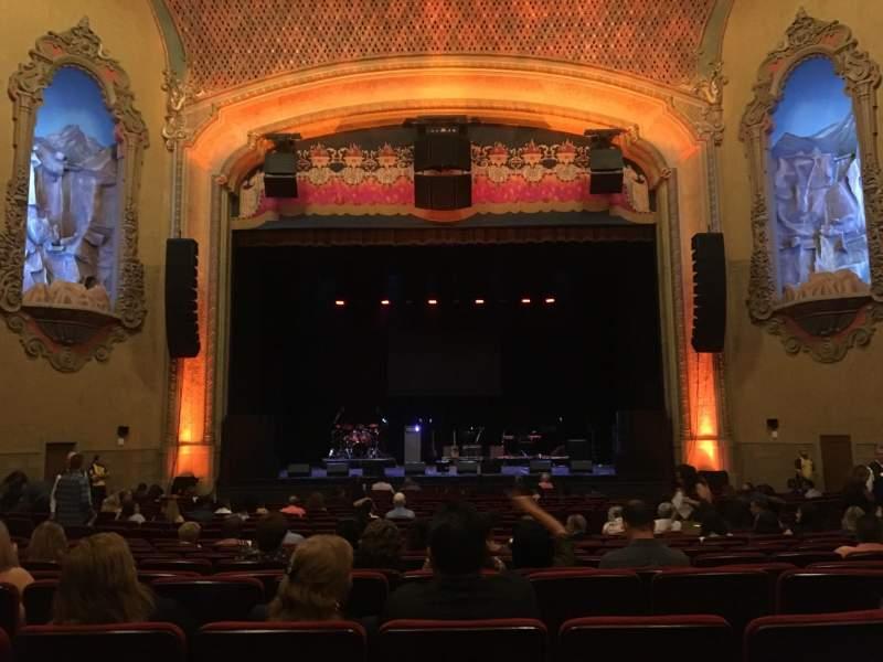 Vista sentada para Balboa Theatre Secção Orchestra Fila U Lugar 112