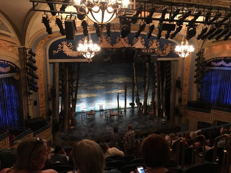 Vista sentada para Gerald Schoenfeld Theatre Secção Mezzanine L Fila K Lugar 9