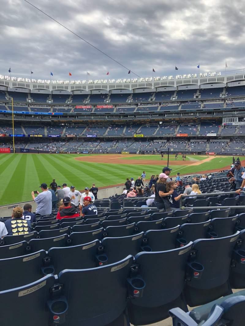 Vista sentada para Yankee Stadium Secção 131 Fila 15 Lugar 9