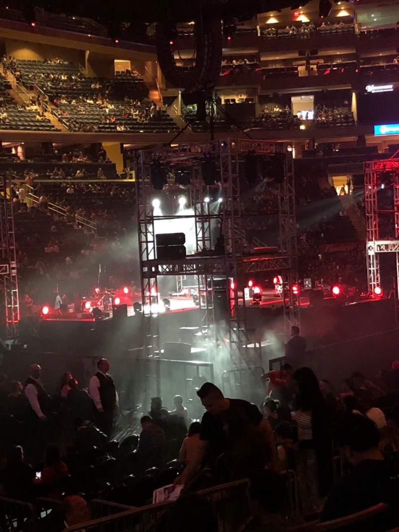 Vista sentada para Madison Square Garden Secção 115 Fila 7 Lugar 4