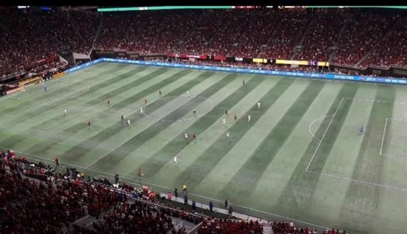 Vista sentada para Mercedes-Benz Stadium Secção 336 Fila 1A Lugar 6