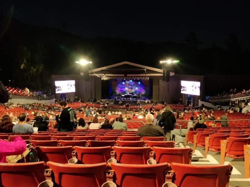 Vista sentada para The Greek Theatre Secção C Fila L Lugar 134