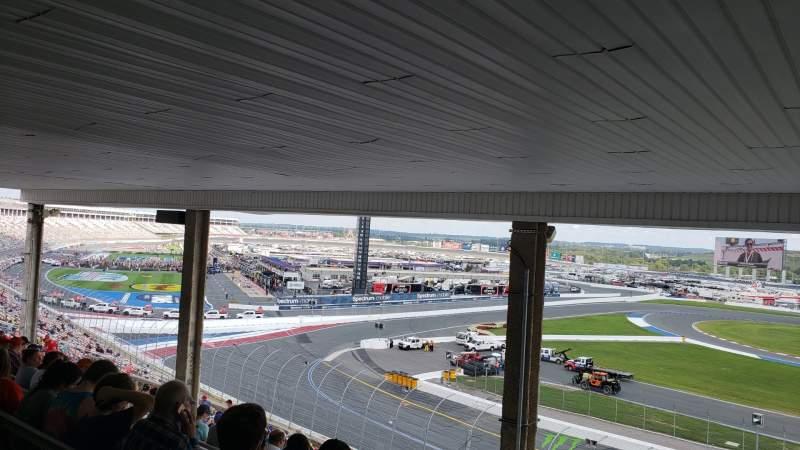 Vista sentada para Charlotte Motor Speedway Secção GNT E Fila 34 Lugar 21