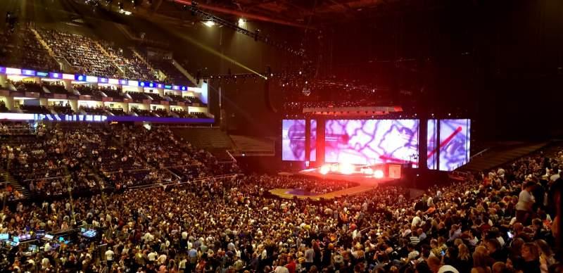 Vista sentada para The O2 Arena Secção 109 Fila ZZ Lugar 101
