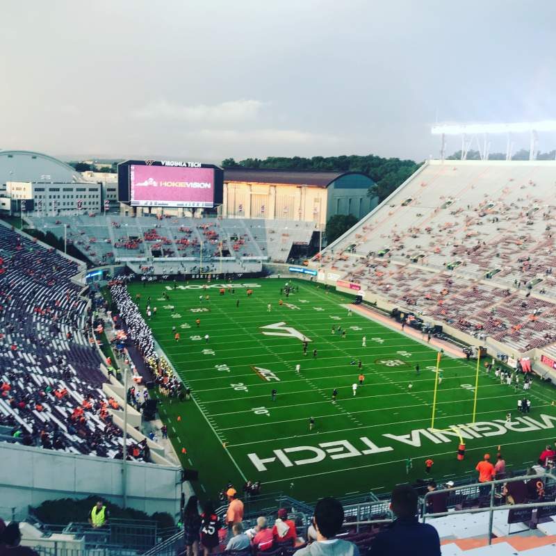 Vista sentada para Lane Stadium Secção 508 Fila S Lugar 11