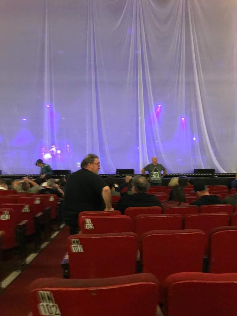 Vista sentada para Orpheum Theatre (Boston) Secção Orchestra RC Fila PP Lugar 102