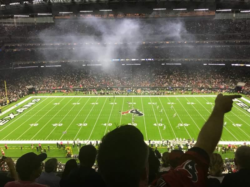 Vista sentada para NRG Stadium Secção 533 Fila MW Lugar 13
