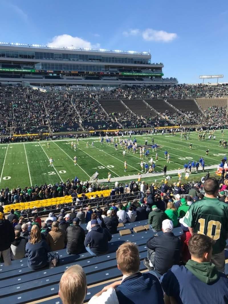 Vista sentada para Notre Dame Stadium Secção 12 Fila 44 Lugar 25