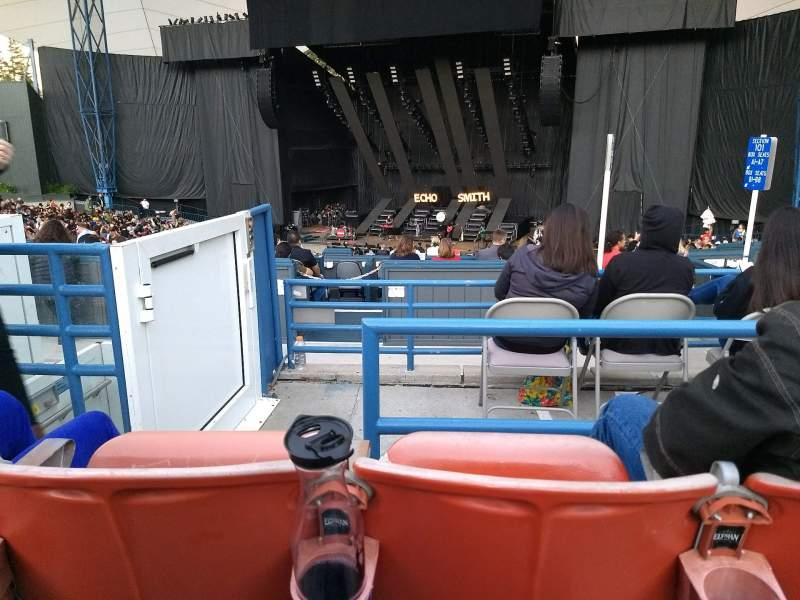Vista sentada para Shoreline Amphitheatre Secção 201 Fila F
