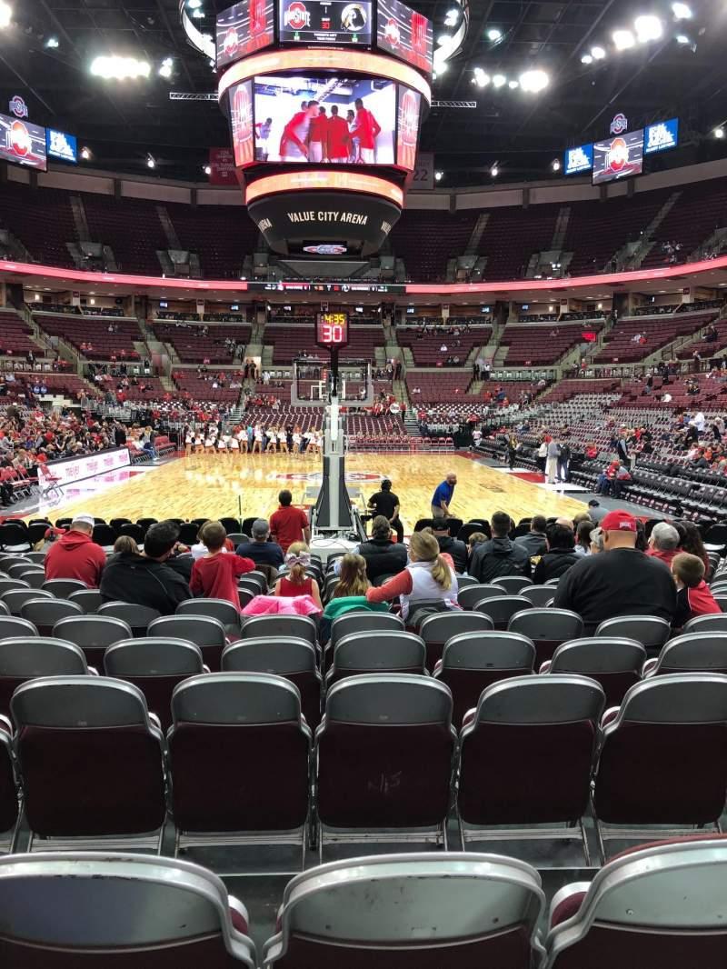 Vista sentada para Value City Arena Secção 131 Fila G Lugar 10