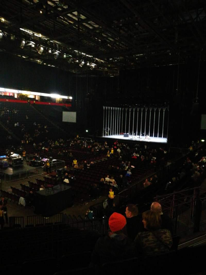 Vista sentada para Manchester arena Secção 111 Fila Q Lugar 10