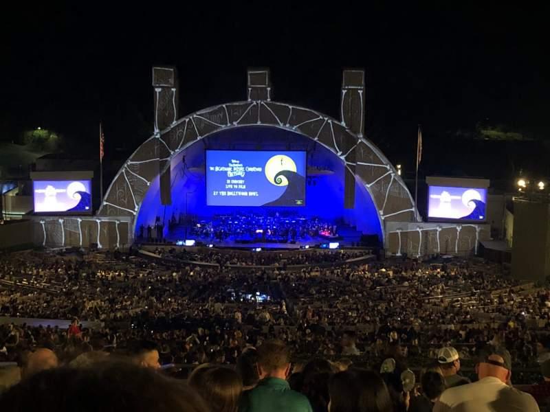 Vista sentada para Hollywood Bowl Secção R1 Fila 14 Lugar 39