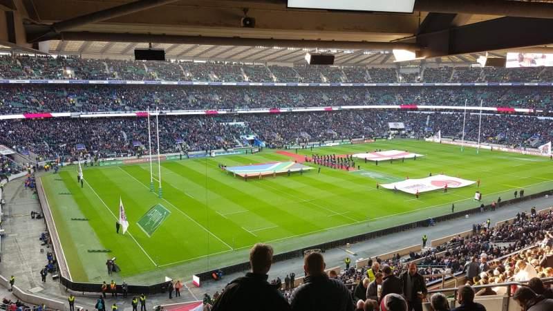 Vista sentada para Twickenham Stadium Secção M38 Fila 72 Lugar 406