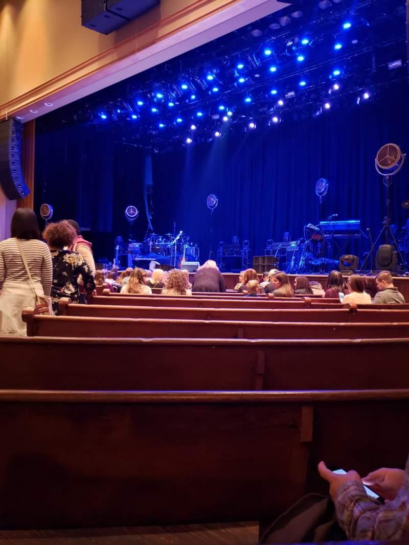 Vista sentada para Ryman Auditorium Secção 2 Fila N Lugar 6
