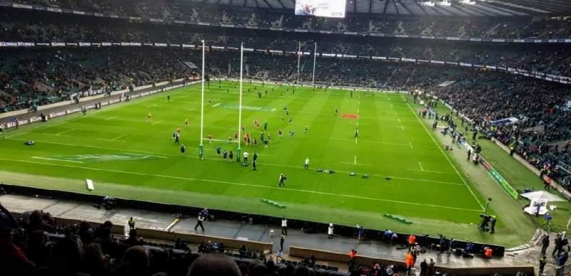 Vista sentada para Twickenham Stadium Secção M19 Fila 65 Lugar 91