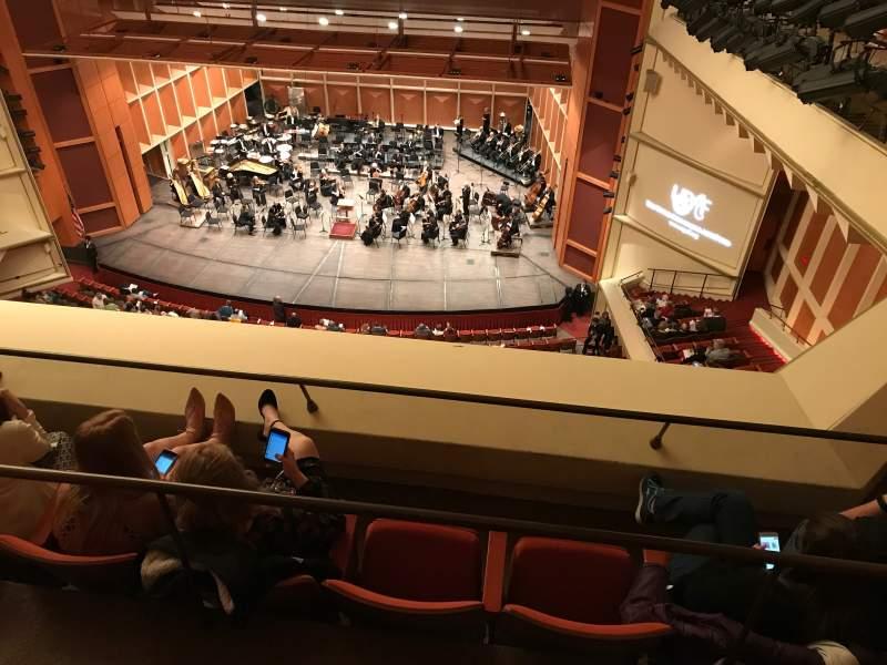 Vista sentada para Uihlein Hall Secção Balcony Fila C Lugar 42
