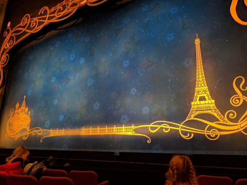Vista sentada para Broadhurst Theatre Secção Orchestra R Fila E Lugar 4