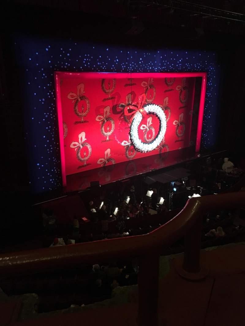 Vista sentada para Chicago Theatre Secção Loge2L Fila AA Lugar 213