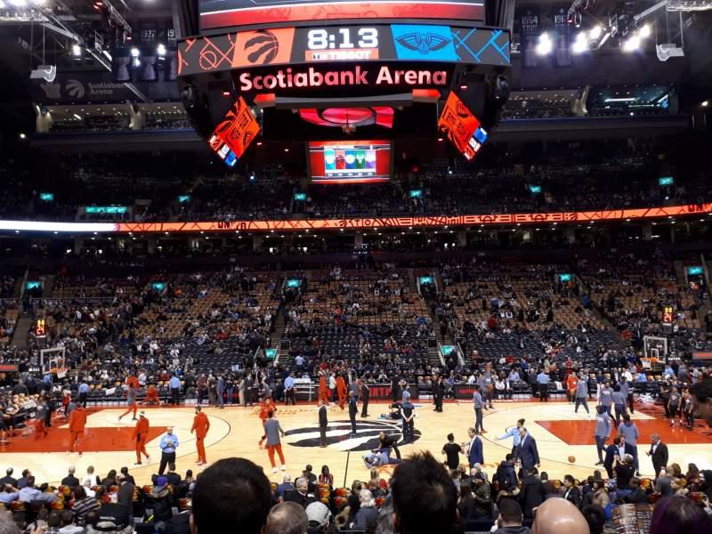 Vista sentada para Scotiabank Arena Secção 108 Fila 15 Lugar 11