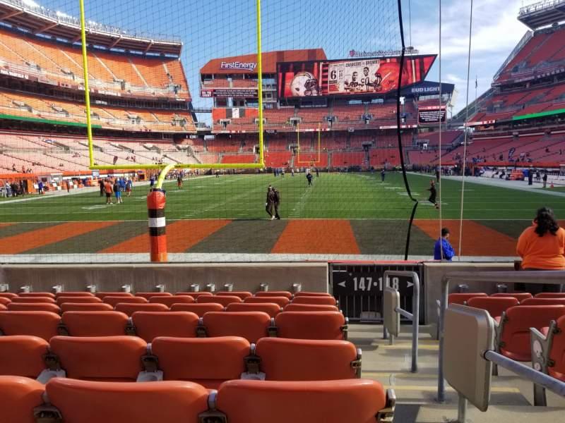 Vista sentada para FirstEnergy Stadium Secção 147 Fila 6 Lugar 21