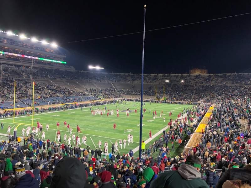 Vista sentada para Notre Dame Stadium Secção 16 Fila 45 Lugar 28-29