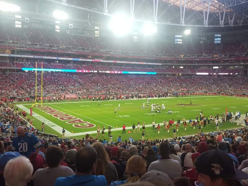Vista sentada para State Farm Stadium Secção 135 Fila 37 Lugar 33