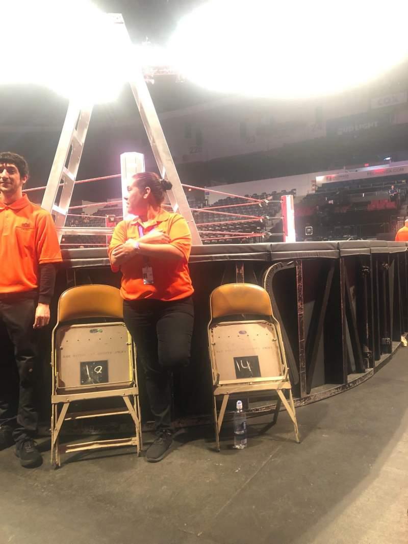 Vista sentada para Pechanga Arena Secção FL G Fila 1 Lugar 13