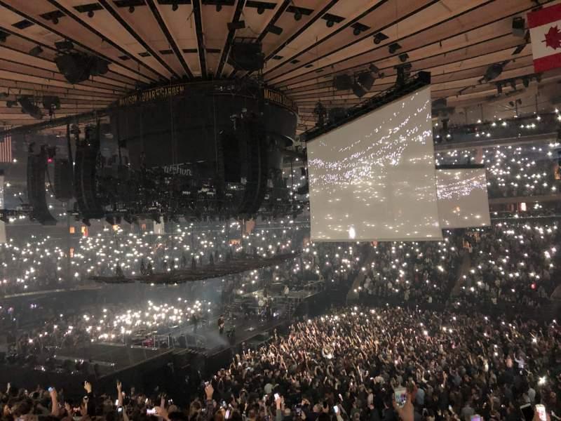 Vista sentada para Madison Square Garden Secção 119 Fila 22 Lugar 12