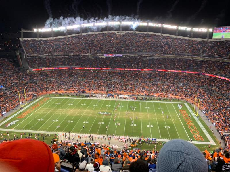 Vista sentada para Broncos Stadium at Mile High Secção 532 Fila 32 Lugar 14