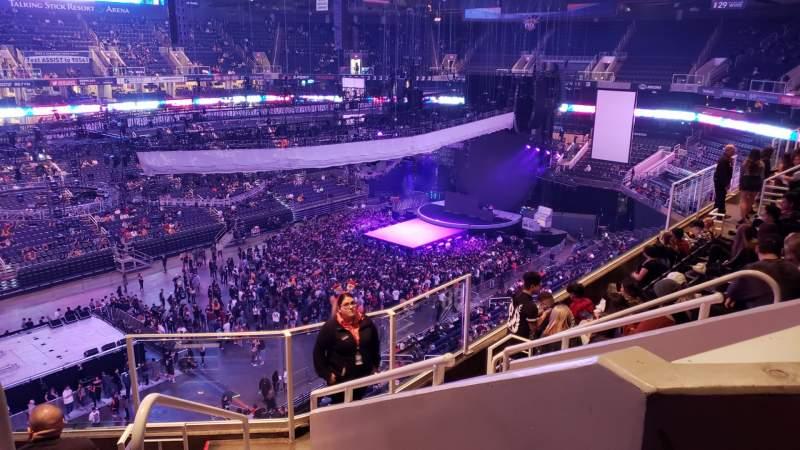 Vista sentada para Talking Stick Resort Arena Secção 206 Fila 7 Lugar 10